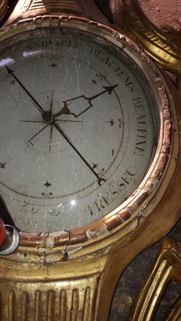 Restauration d'un baromètre du XVIIIéme siècle
